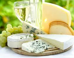 white wine and cheese platter